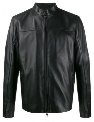 MICHAEL KORS vīriešu melna ādas jaka
