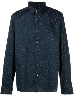 MICHAEL KORS vīriešu tumši zils krekls ar rakstu
