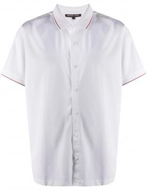 MICHAEL KORS vīriešu balts krekls ar īsām piedurknēm
