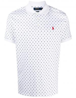 POLO RALPH LAUREN vīriešu balts polo tipa krekls ar laivām