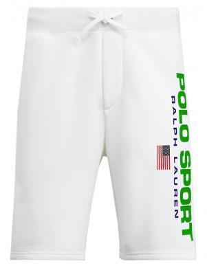 POLO RALPH LAUREN vīriešu balti sporta stila šorti