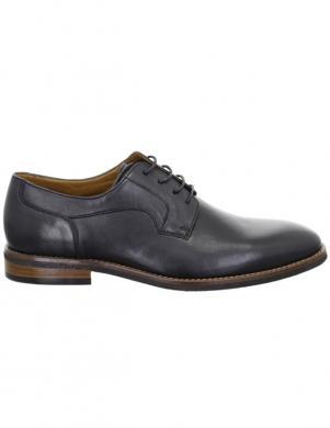 SALAMANDER vīriešu melni klasiski apavi BOHA