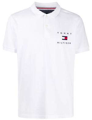TOMMY HILFIGER vīriešu balts polo tipa krekls