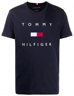 TOMMY HILFIGER vīriešu tumši zils krekls ar logotipu