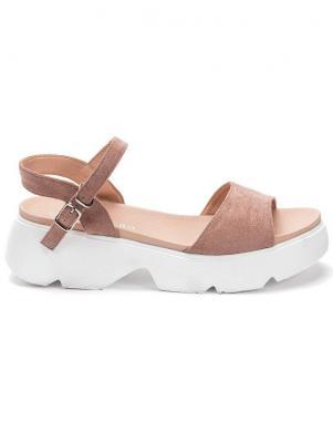 GRUNBERG sieviešu rozā sandales