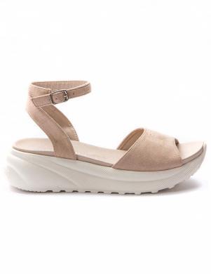 GRUNBERG sieviešu krēmīgas krāsas sandales