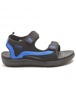 CROSBY bērnu melnas - zilas sandales
