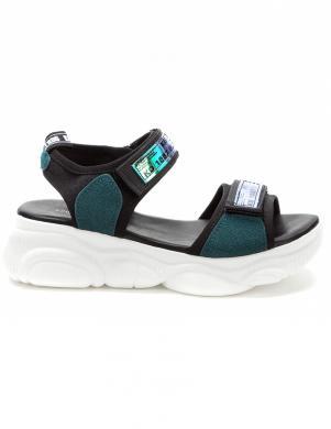 KEDDO sieviešu melnas - zaļas sandales