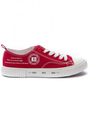 KEDDO DENIM sieviešu sarkani ikdienas apavi