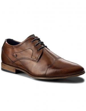 BUGATTI vīriešu brūni klasiski apavi Mattia