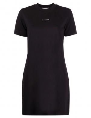 CALVIN KLEIN JEANS sieviešu melna kokvilnas kleita