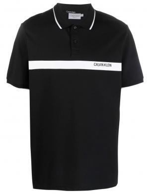 CALVIN KLEIN vīriešu melns kokvilnas krekls ar logotipu