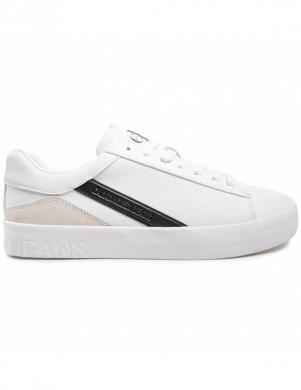 CALVIN KLEIN vīriešu balti ikdienas apavi VULCANIZED SNEAKER LACEUP LTH-PU