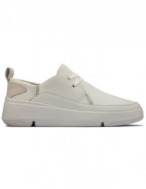 CLARKS sieviešu balti ikdienas apavi Tri Flash Walk