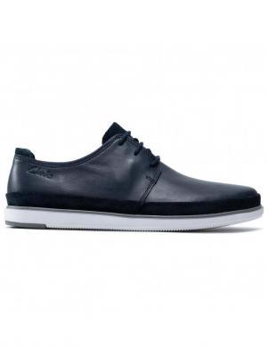 CLARKS vīriešu tumši zili klasiski apavi Bratton Lace