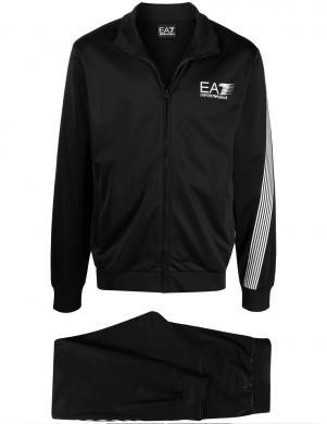 EA7 vīriešu melns spīdīgs ikdienas kostīms