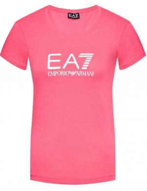 EA7 sieviešu rozā krekls ar īsām piedurknēm