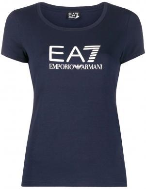 EA7 sieviešu tumši zils krekls ar īsām piedurknēm