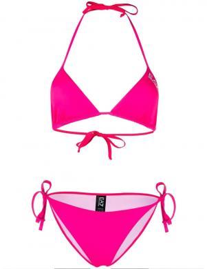 EA7 sieviešu rozā atsevišķs peldkostīms