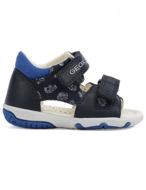 GEOX bērnu tumši zilas sandales zēniem B SANDAL ELBA BOY