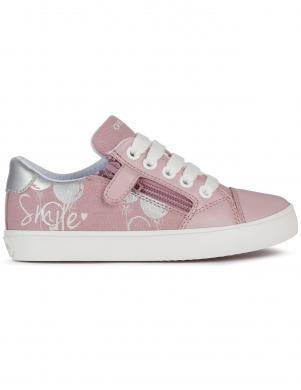 GEOX bērnu rozā ikdienas apavi meitenēm GISLI GIRL