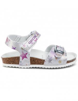 GEOX bērnu sudraba sandales meitenēm ADRIEL GIRL