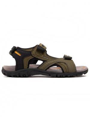 GEOX vīriešu zaļas sandales UOMO SANDAL STRADA