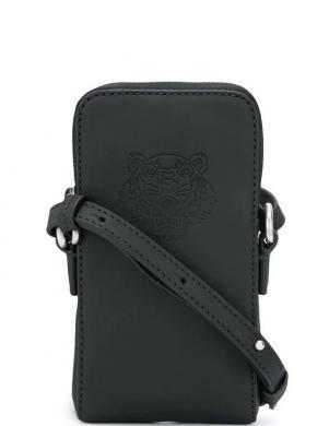 KENZO sieviešu melna soma pār plecu - telefona maciņš PREPPY