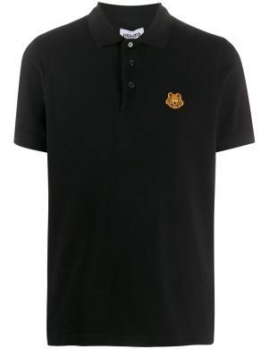 KENZO vīriešu melns Polo tipa krekls