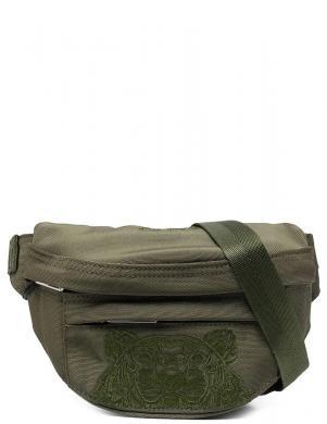 KENZO sieviešu tumši zaļa izšūta soma ap vidukli KAMPUS