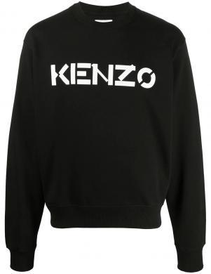 KENZO vīriešu melns džemperis ar uzrakstu