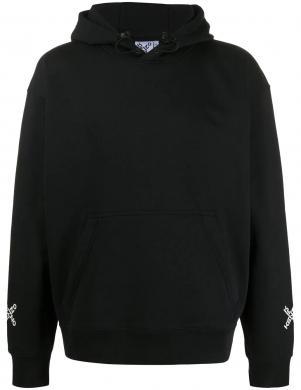 KENZO vīriešu melns džemperis ar kapuci un uzrakstu uz muguras