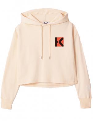 KENZO sieviešu krēmīgs džemperis ar kapuci