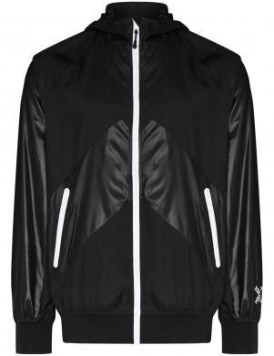 KENZO vīriešu melna sporta stila plāna jaka