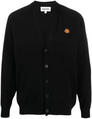KENZO vīriešu melns džemperis ar pogām