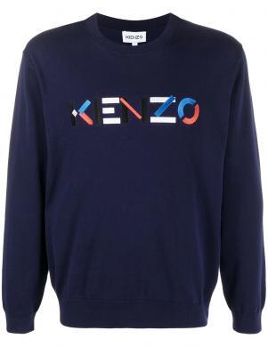 KENZO vīriešu zils džemperis ar uzrakstu