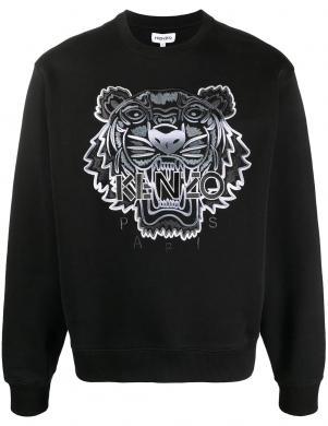 KENZO vīriešu melns džemperis ar izšūtu logotipu