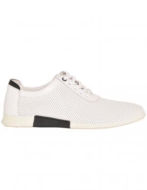 LA CONTE vīriešu balti ādas perforēti ikdienas apavi