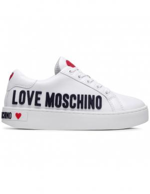 LOVE MOSCHINO sieviešu balti ādas ikdienas apavi