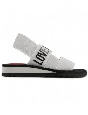 LOVE MOSCHINO sieviešu sudraba - pelēkas sandales