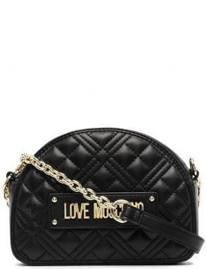 LOVE MOSCHINO sieviešu melna soma pār plecu NEW SHINY
