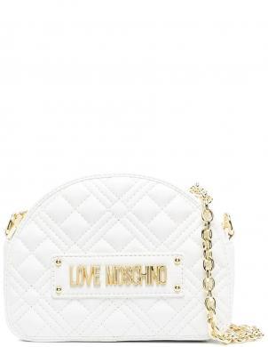 LOVE MOSCHINO sieviešu balta soma pār plecu NEW SHINY