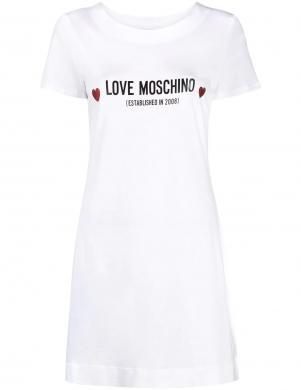 LOVE MOSCHINO balta īsa krekla tipa kleita
