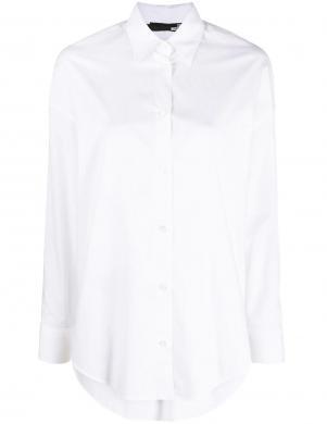 LOVE MOSCHINO sieviešu balts plats krekls ar īsām piedurknēm