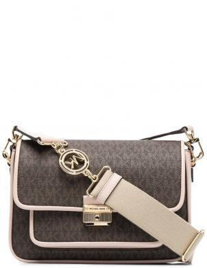 MICHAEL KORS sieviešu brūna - rozā soma pār plecu