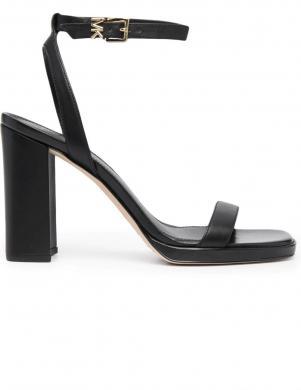 MICHAEL KORS sieviešu melnas ādas augstpapēžu sandales ANGELA