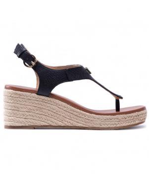 MICHAEL KORS sieviešu melnas sandales - espadrilles LANEY THONG
