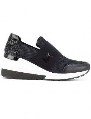 MICHAEL KORS sieviešu melni ikdienas apavi ar biezu zoli FELIX TRAINER