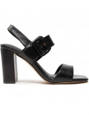 S.OLIVER sieviešu melnas augstpapēžu sandales