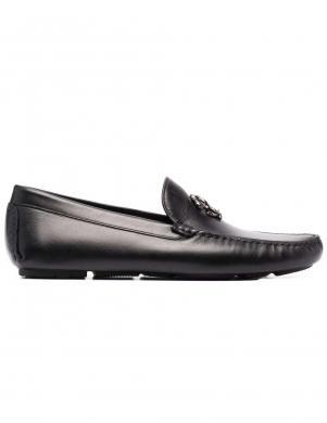 ROBERTO CAVALLI vīriešu melni ādas klasiski apavi